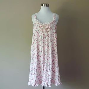 Extra Large Nightgown Pink and White